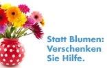 Statt Blumen: Verschenken Sie Hilfe