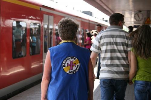 Bei der Bahnhofsmission in Saarbrücken
