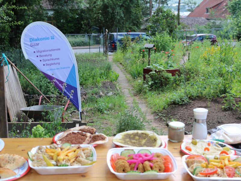 Im Allerweltsgarten in Neunkirchen engagieren sich die Migrationsdienste für interkulturelles Zusammenleben. Fotos: Diakonie Saar/ Stein