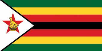 Die Fahne von Simbabwe