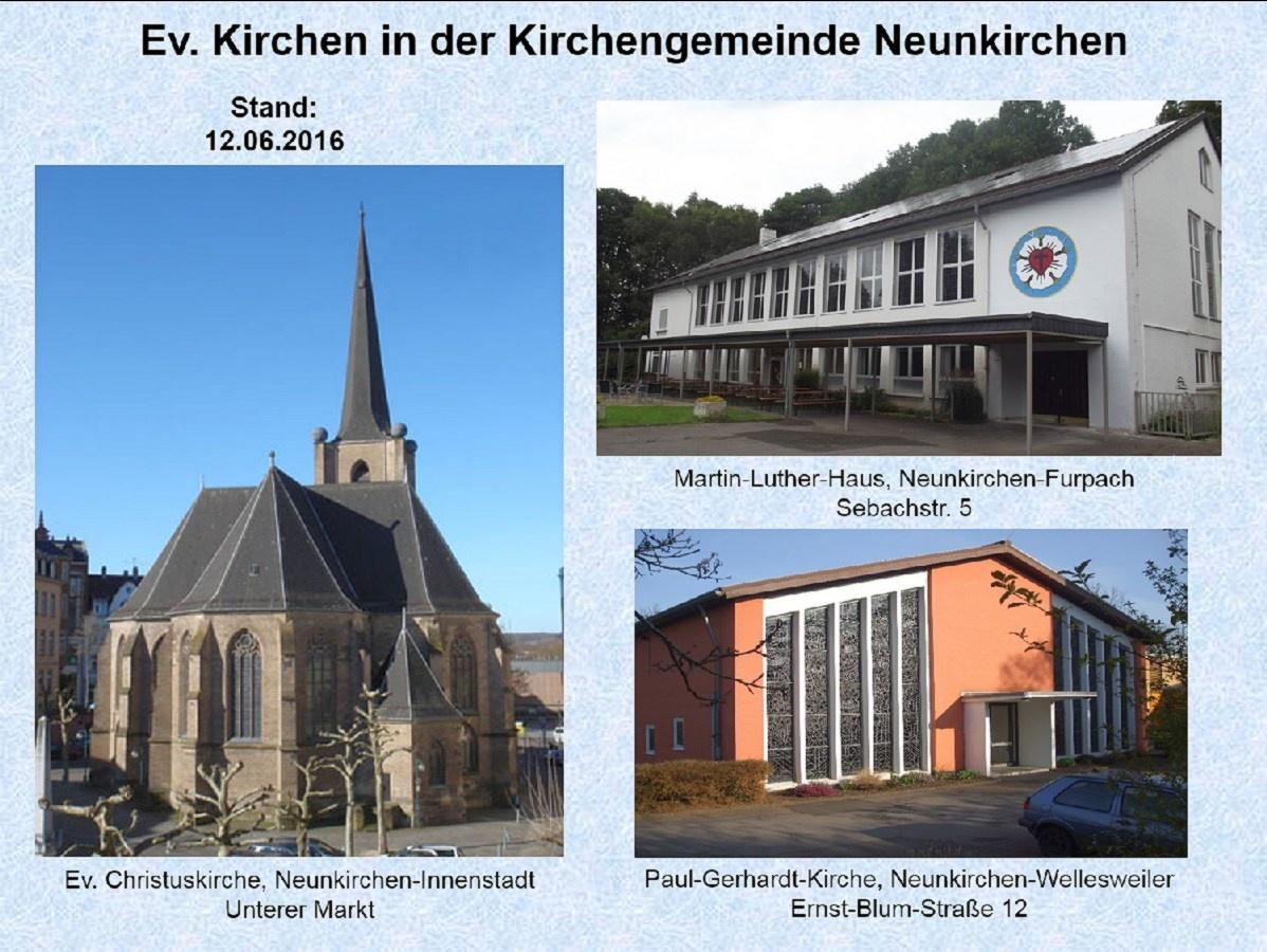 Alle Gottesdienste der Ev. Kirchengemeinde Neunkirchen