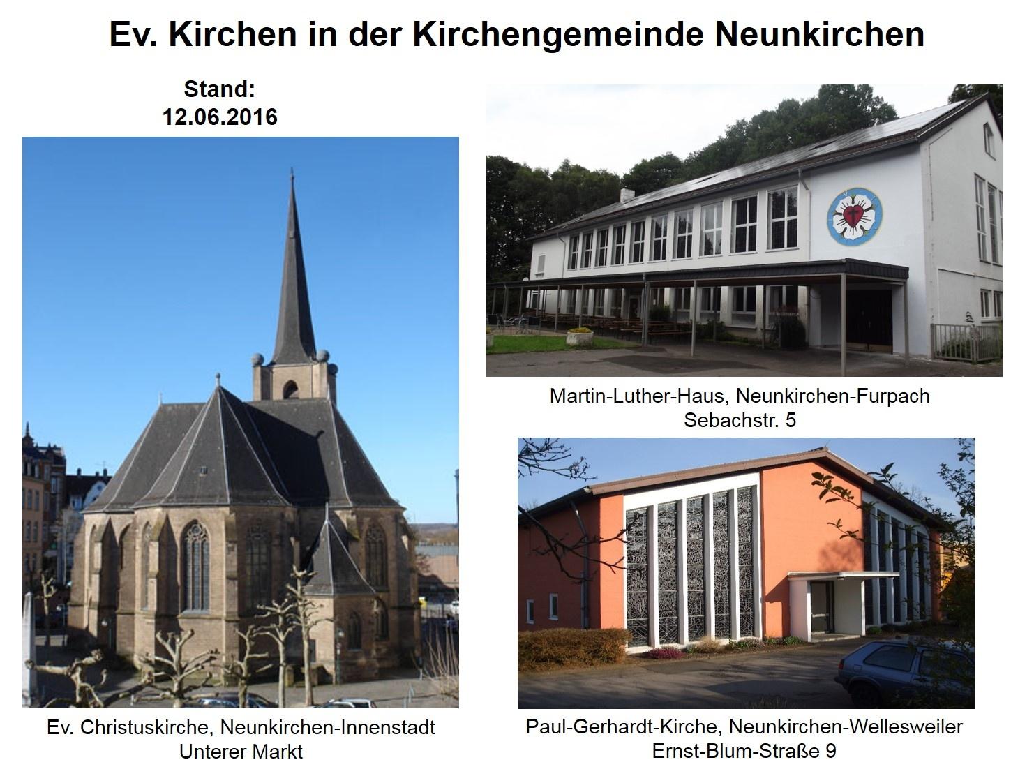 Ev. Kirchen in der Kirchengemeinde Neunkirchen (Foto: H.- J. Strack)