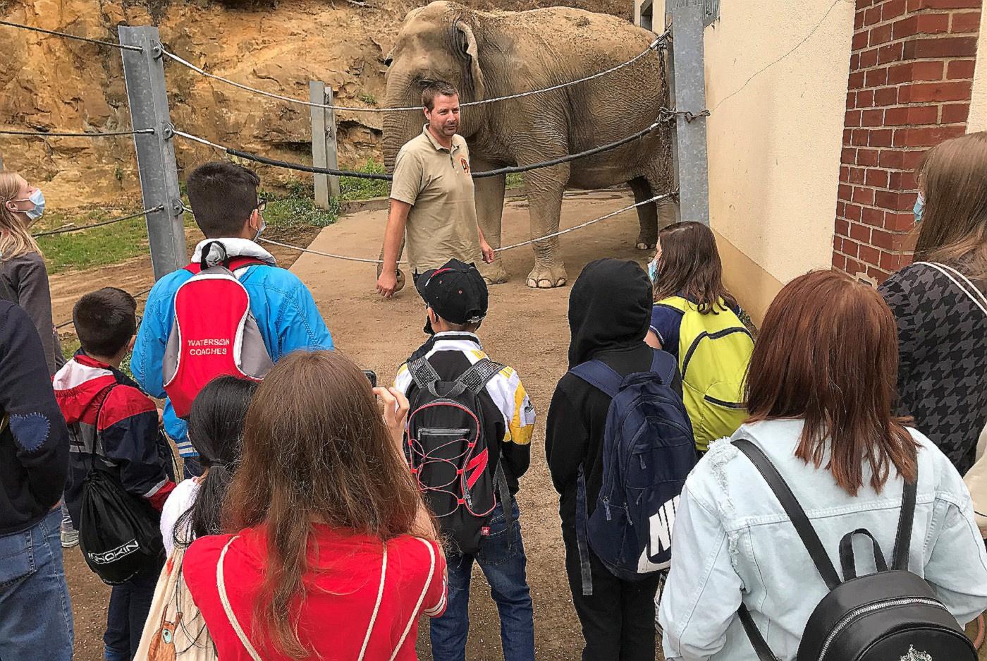 Trotz Maskenpflicht konnten die Kinder den Besuch im Neunkircher Zoo genießen