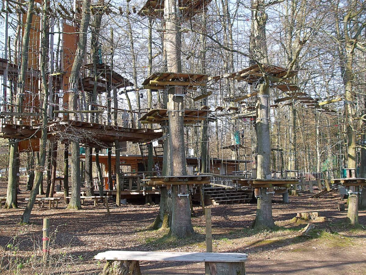 Fun Forest, der Abenteuer-Park in Homburg - Jägersburg zum Klettern und Balancieren auf den Bäumen