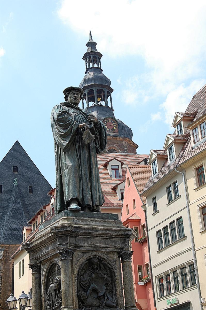 Das Lutherdenkmal in Eisleben