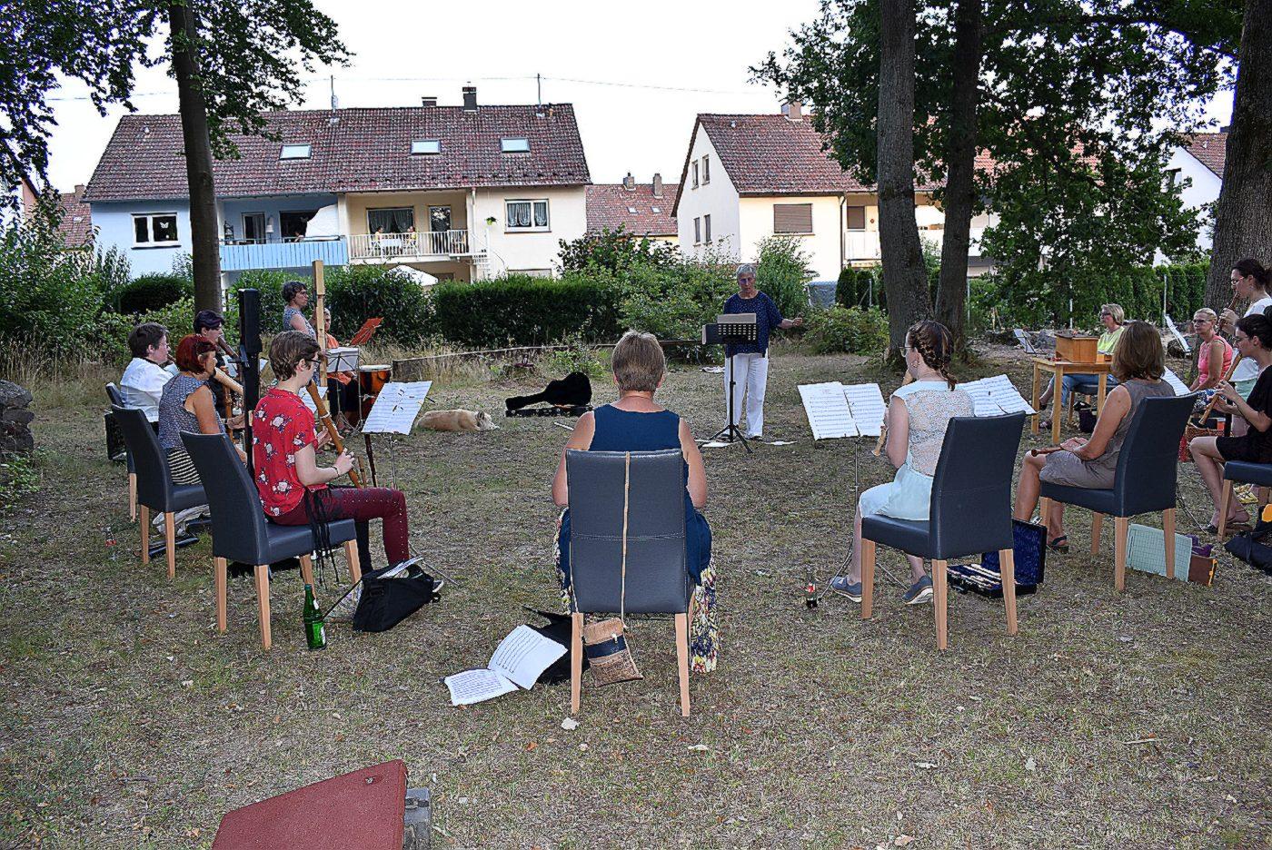 Musikprobe im Freien