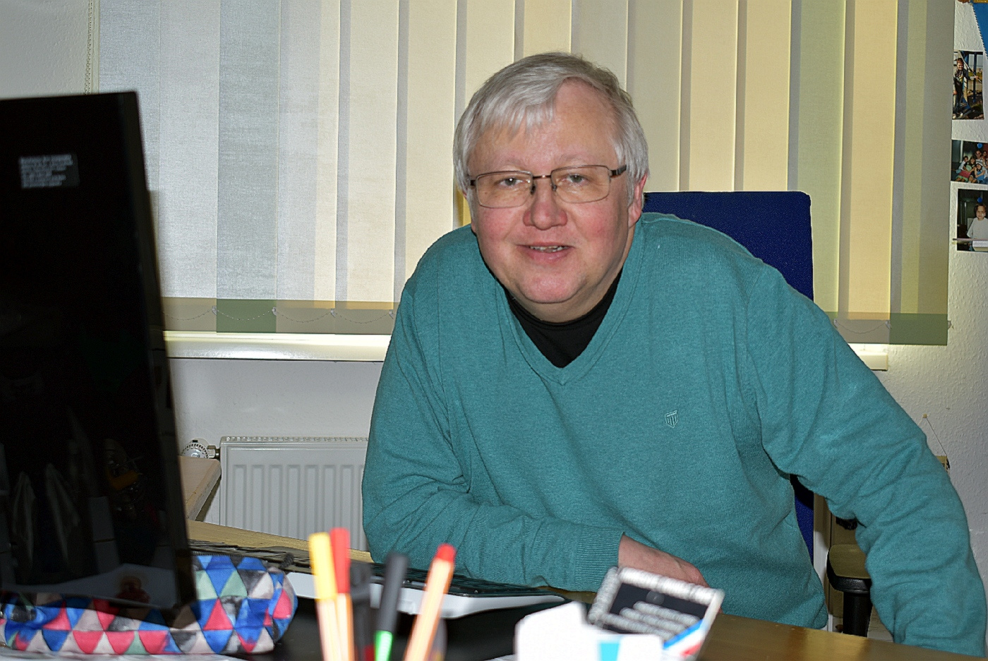 Pfarrer Schmidt im Homeoffice