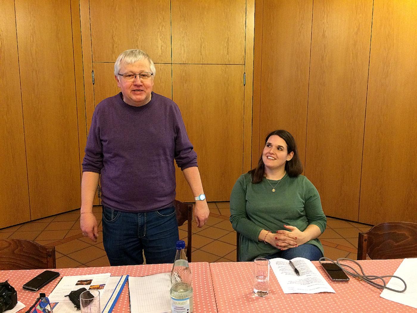 U. Schmidt eröffnet den Männerkreis und begrüßte die neue Bürgermeisterin der Kreisstadt Neunkirchen, Frau L. Kühn