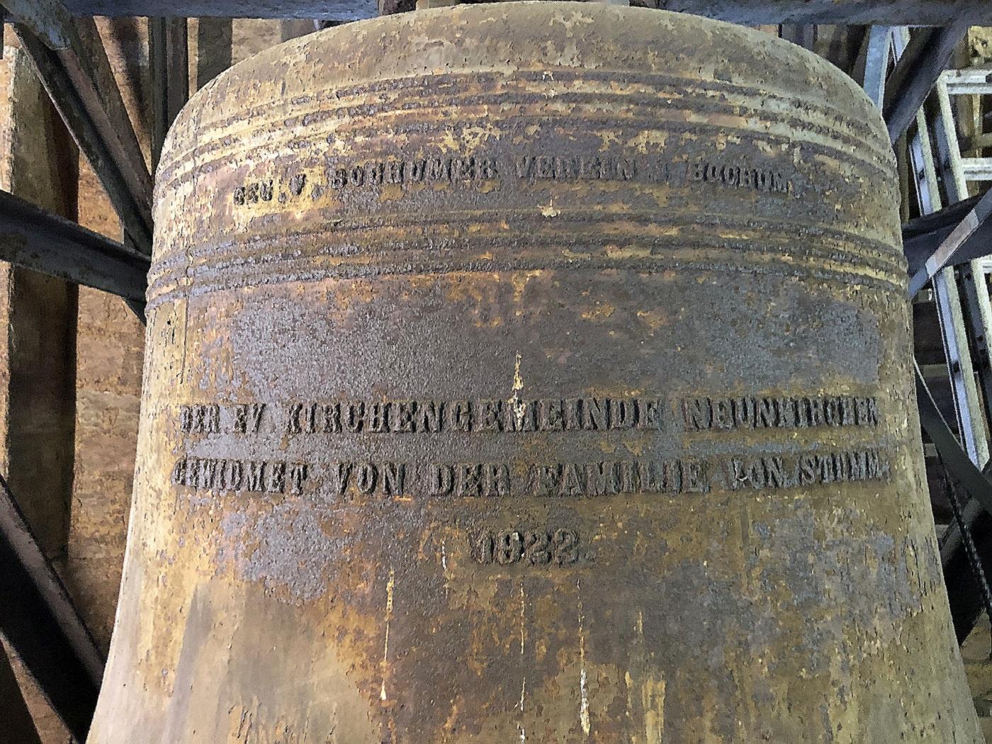 1922 vom Bochumer Verein gegossene Glocke der Christuskirche (Fotos: M. Hilka)
