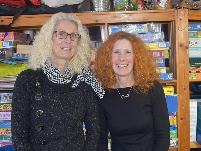 Diplom-Pädagogin Katja Scherer (li), weiß das Engagement von Katja Scherer zu schätzen. Foto: Andrea Reinmann