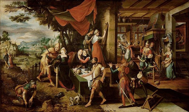 Meister des verlorenen Sohnes. Niederländischer Maler um 1550.