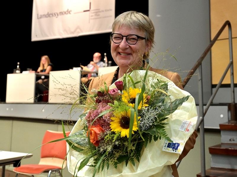 Dorothee Wüst nach ihrer Wahl, Foto: Ev. Kirche der Pfalz / Landry