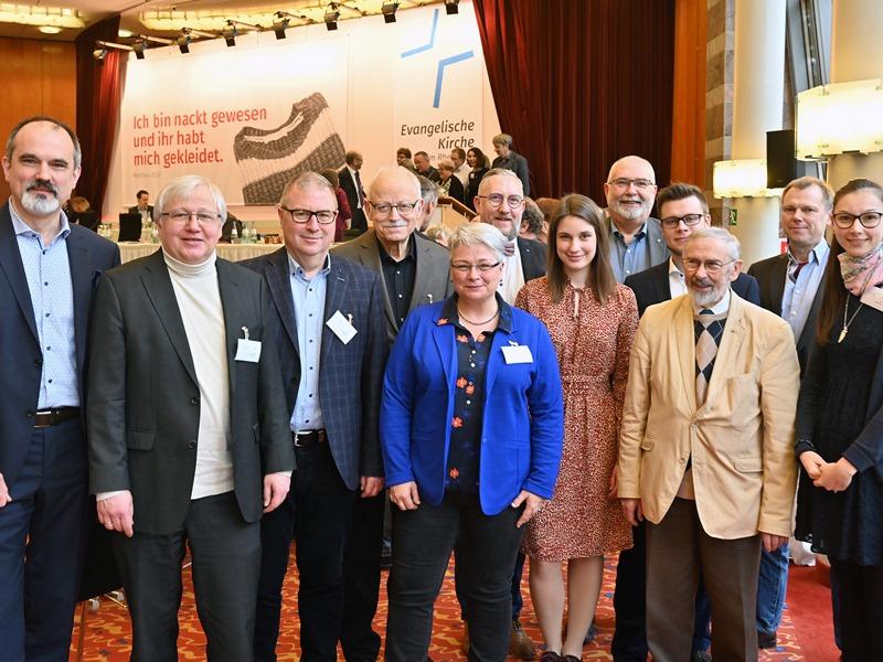 Die Delagation aus dem Saarland auf der Landessynode. Foto: Hans Jürgen Vollrath
