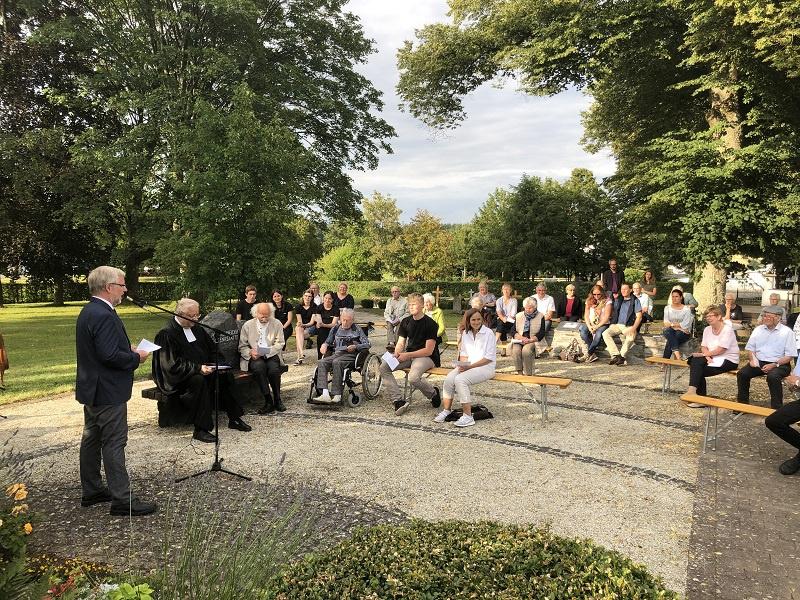 Die Gedenkfeier in Dickenschied im Hunsrück, Foto: Kirchenkreis Simmern-Trabrach