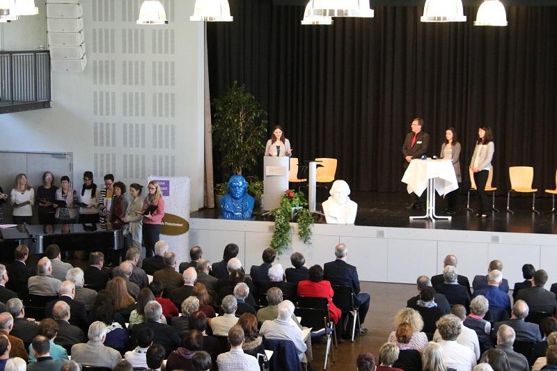 Die Morgendacht zur Reformationssynode 2017 fand in der vollbesetzten Aula der Universität des Saarlandes statt, Foto: evks/Paulus