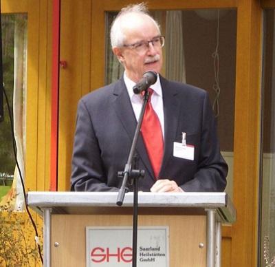 Pfarrer Rolf Joachim Kiderle bei seiner Verabschiedung an den SHG-Kliniken auf dem Sonnenberg, Foto: SHG-Kliniken