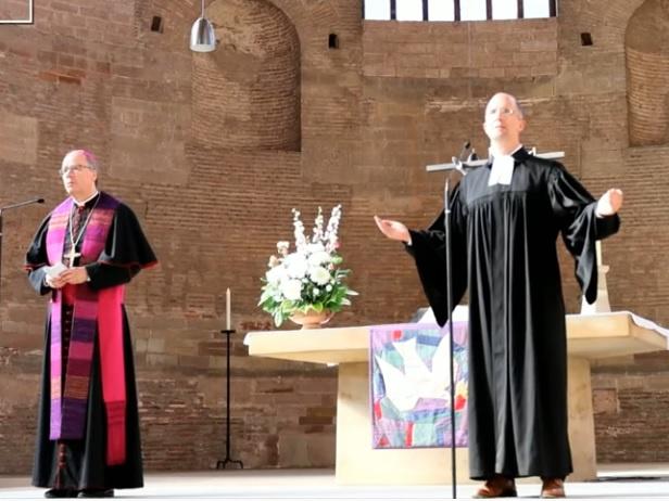 Bischof Ackermann und Präses Latzel, Foto: Youtube