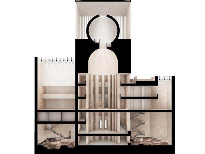 Schnittperspektive Foto: House of One