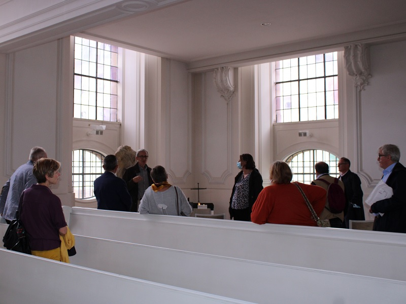 Bei der Führung durch die Ludwigskirche, Fotos: evks/Eulenstein
