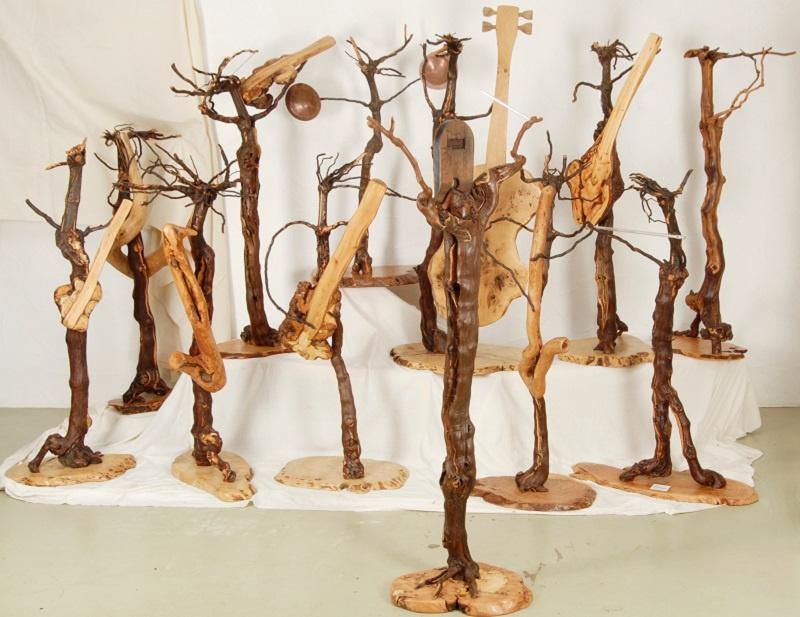 Holzkunstwerk des Künstlers Erwin Würth / Foto: Michael Hilka
