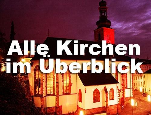 Alle Kirchen im Überblick