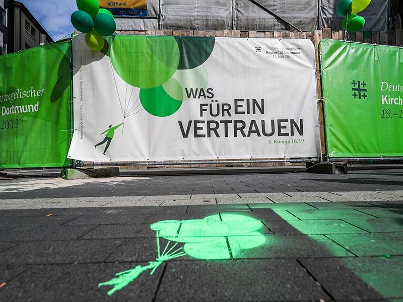 Saarländerinnen und Saarländer beim Kirchentag in Dortmund