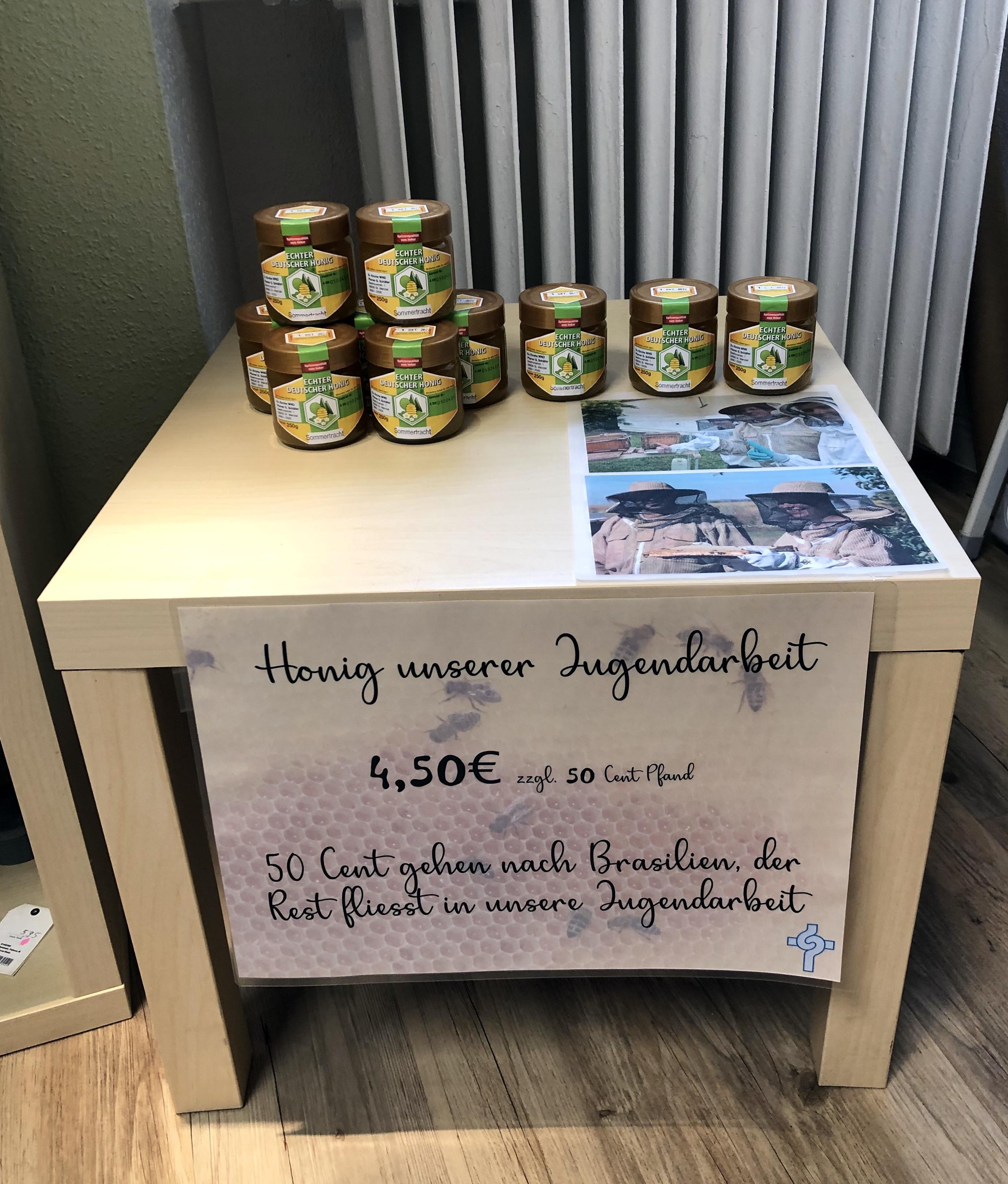 Gemeinde-Honig jetzt im Eine-Welt-Laden