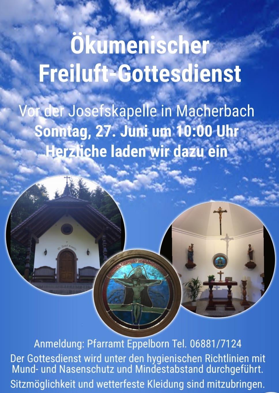 Ökumenischer  Freiluft- Gottesdienst in der Josefskapelle