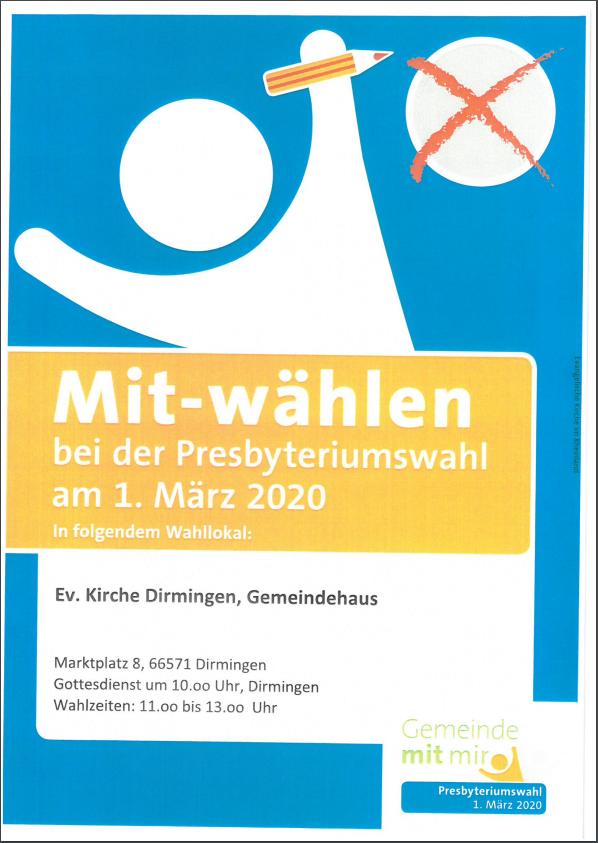 Presbyteriumswahlen 2020 - Ihre Stimme jetzt per Briefwahl