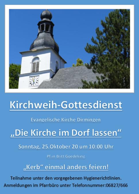 274. Kirchweih-Gottesdienst in Dirmingen