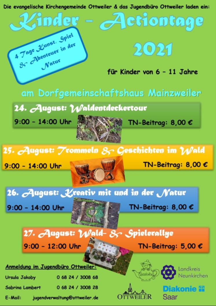 Kinder - und Jugendfreizeiten 2021 - AUSGEBUCHT!!!