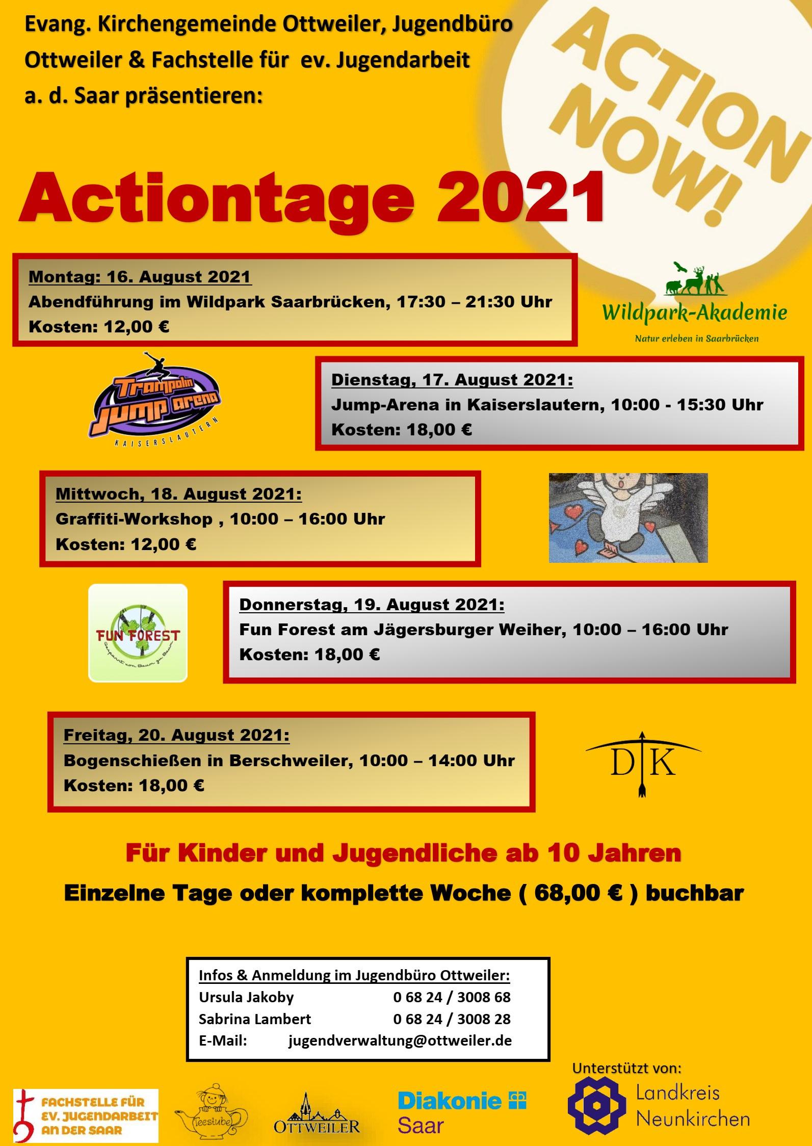 Actiontage 2021 - AUSGEBUCHT!!!