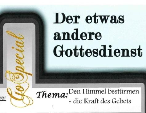 Go Special-Gottesdienst zum Start des 24h-Gebets in Riegelsberg