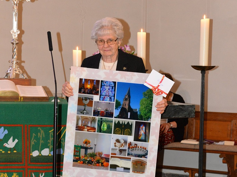Gertrud Glomba bei ihrer Entpflichtung, Foto: Wilhelm Klein