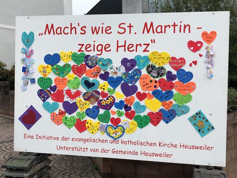 St. Martin 2020 in der evangelischen und katholischen Kirchengemeinde Heusweiler