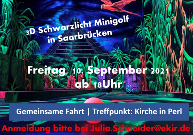 3D Schwarzlicht Minigolf in Saarbrücken