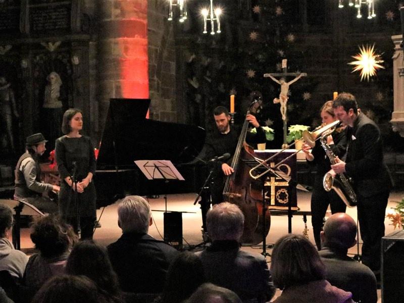 Das Manuel Krass Quintett stellte die CD bei einem Benefizkonzert in der Stiftskirche in Saarbrücken vor.