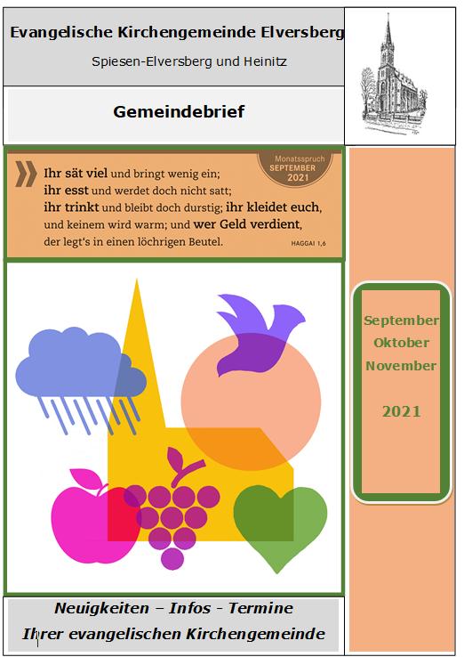 Gemeindebrief September-November 2021