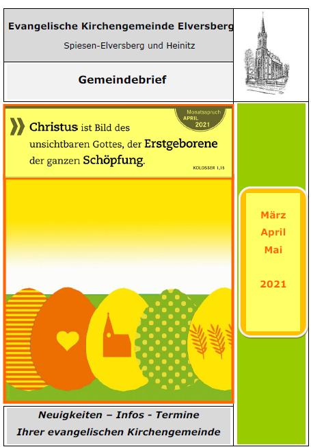 Gemeindebrief März-Mai 2021