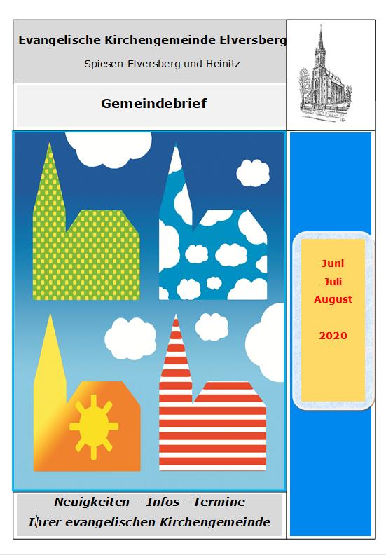 Gemeindebrief Juni-August 2020