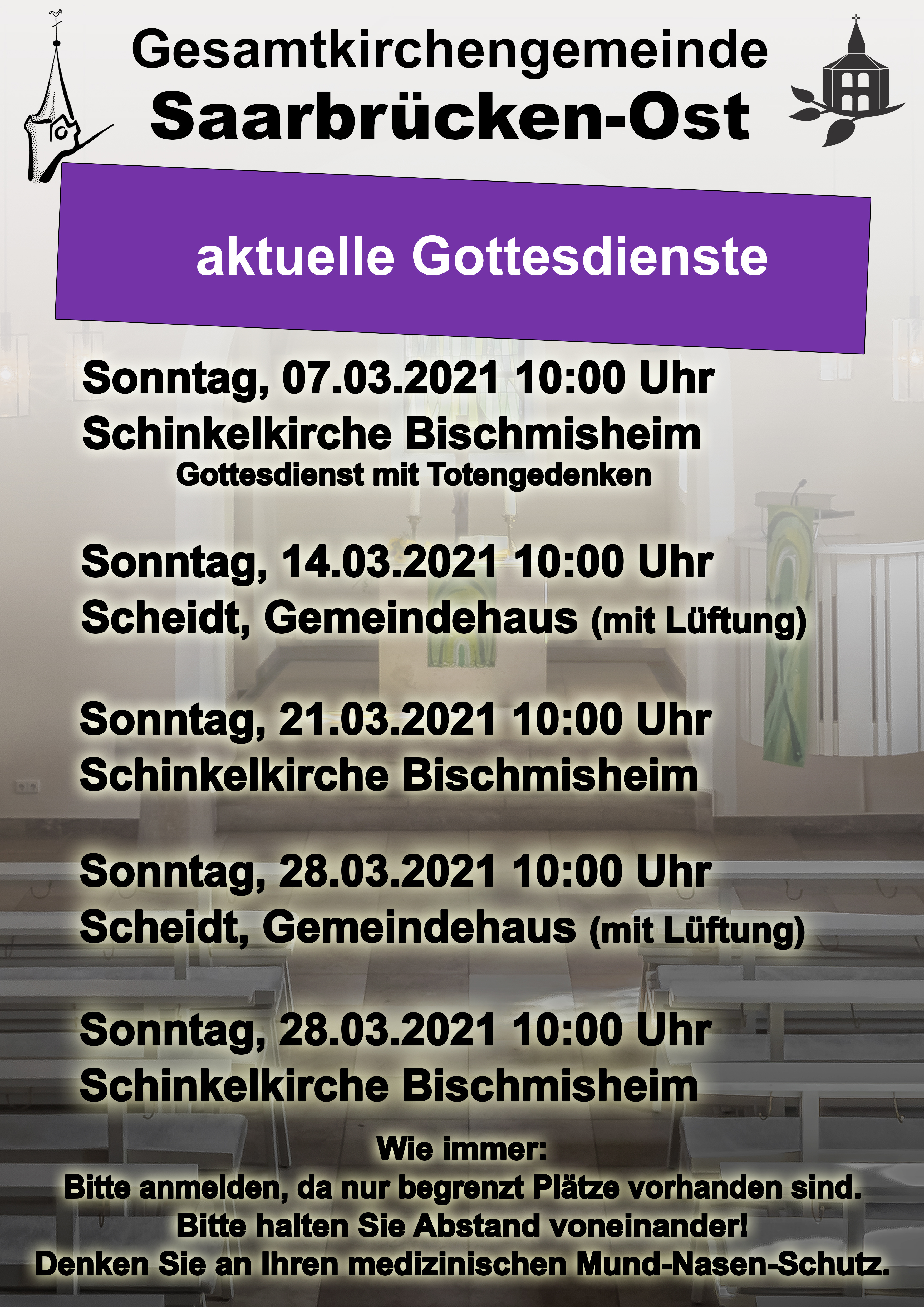 Gottesdienste März 2021