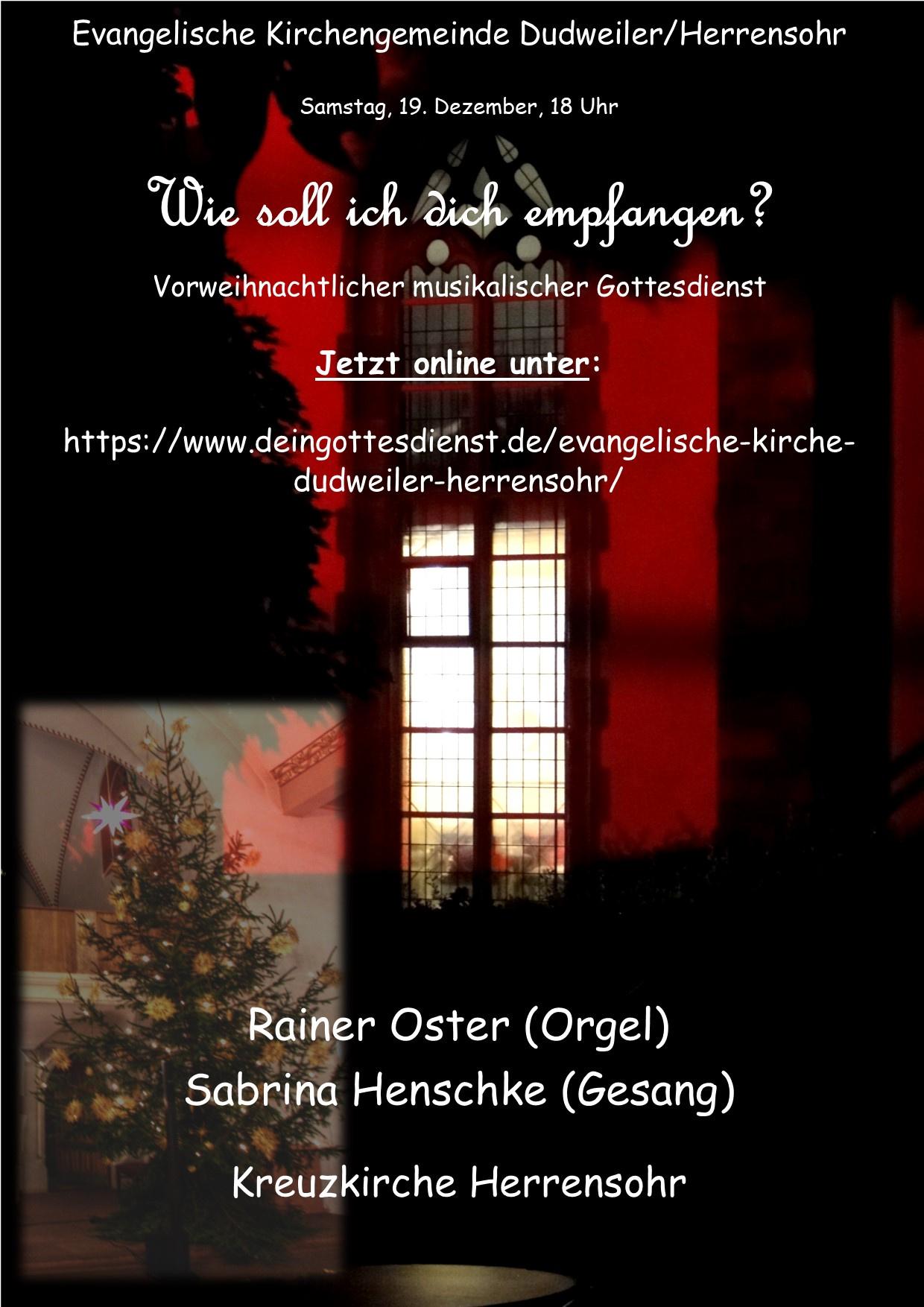 Musikalischer Adventsgottesdienst aus der Kreuzkirche online