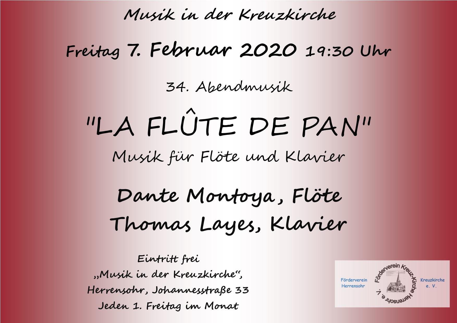'LA FLÛTE DE PAN' - Musik für Flöte und Klavier