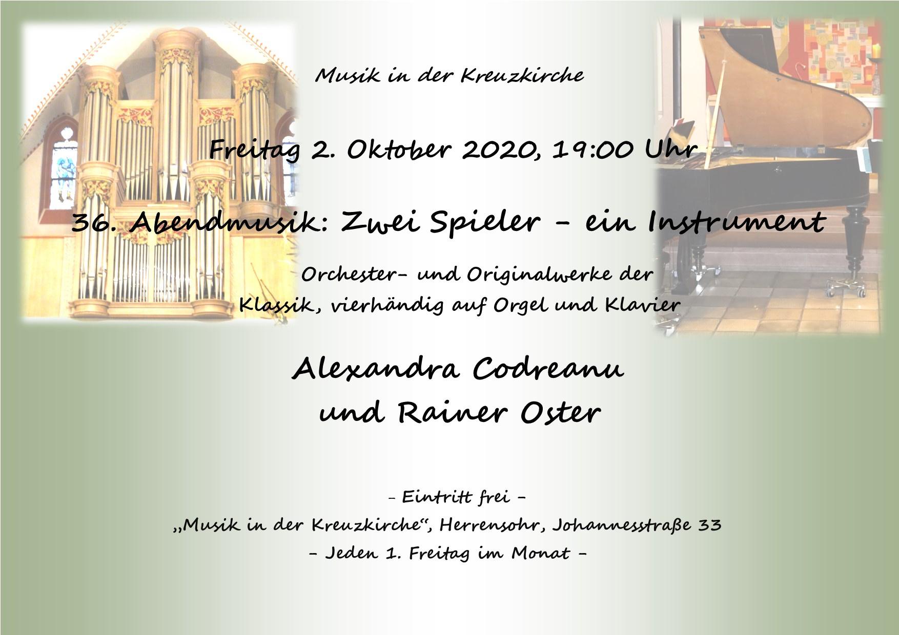 36. Abendmusik in der Kreuzkirche Herrensohr