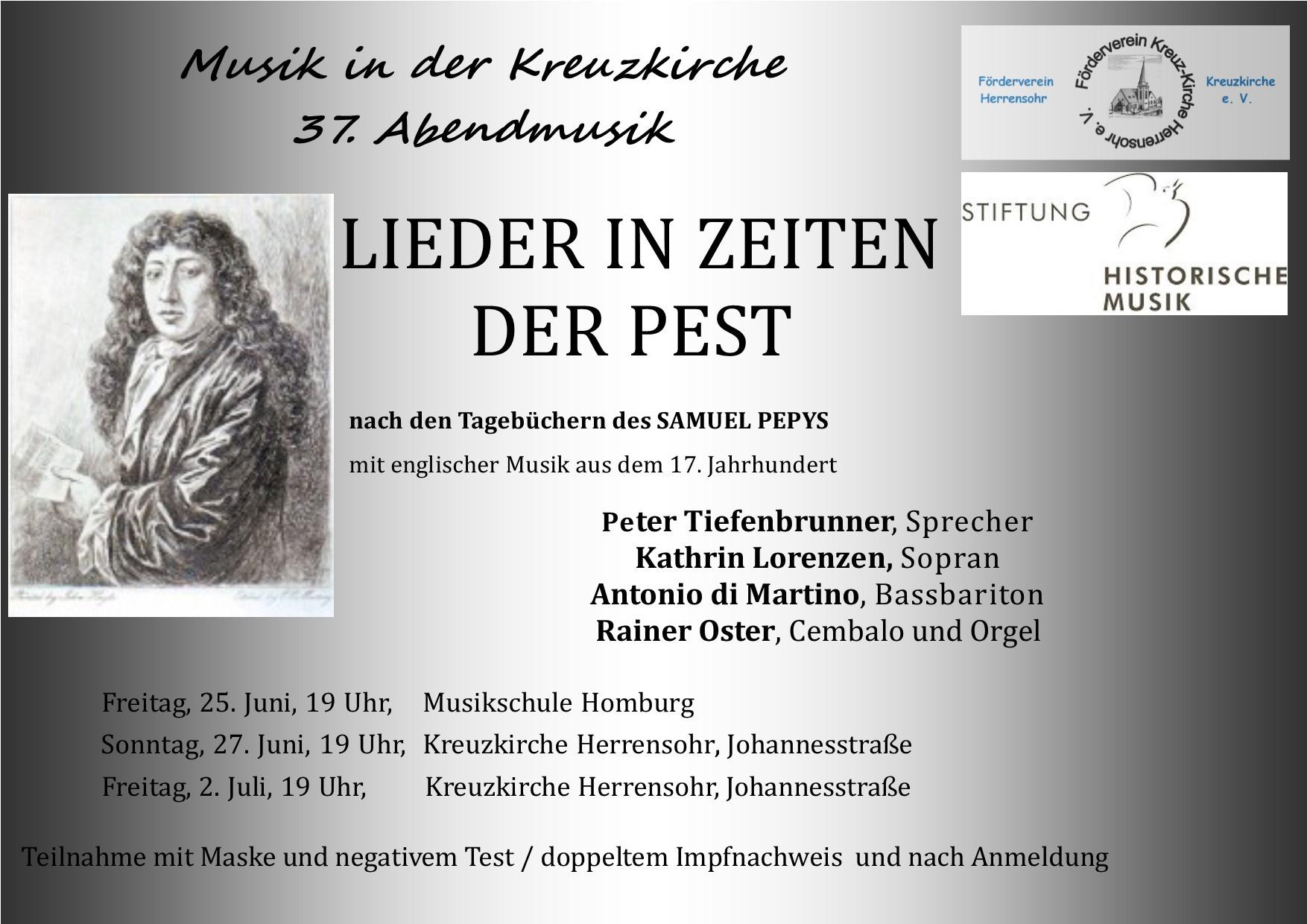 Lieder in Zeiten der Pest - Das Tagebuch des Samuel Pepys