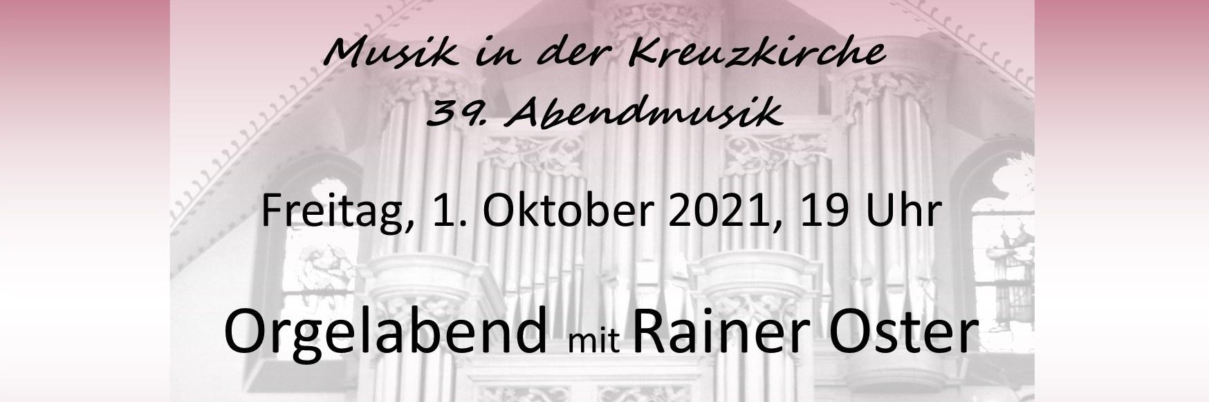 Orgelabend mit Rainer Oster