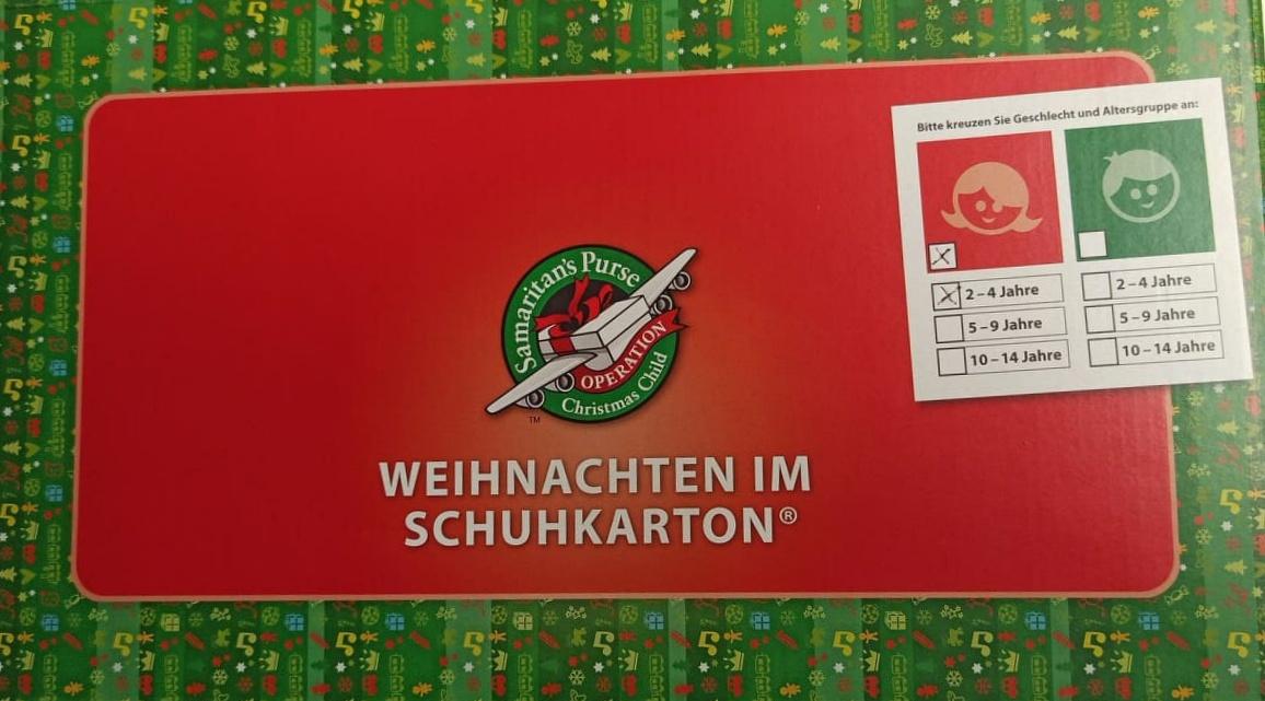 'Weihnachten im Schuhkarton'
