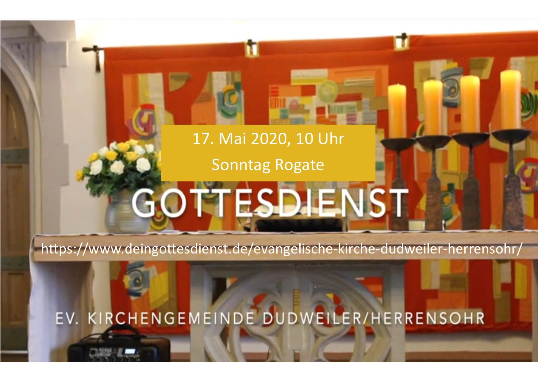 Online-Gottesdienst am Sonntag, 17. Mai, aus der Kreuzkirche Herrensohr